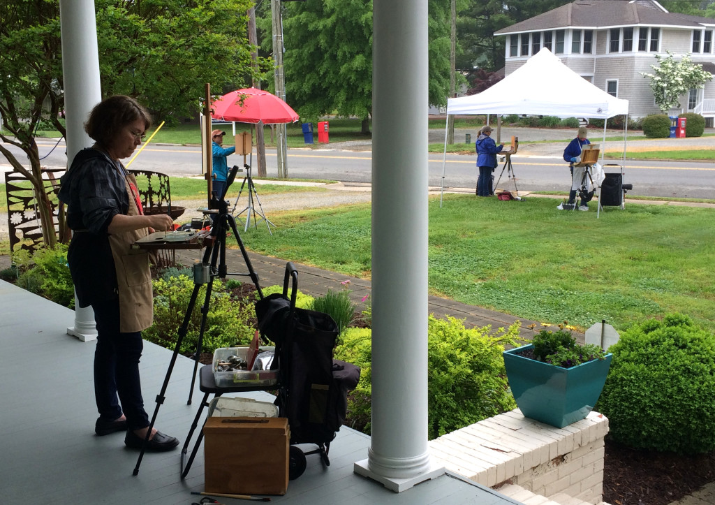 Allure Art Center Plein Air Painters Working on the grounds